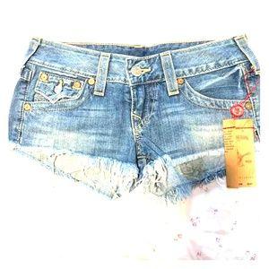True Religion Joey Cutoff Shorts - Size 27